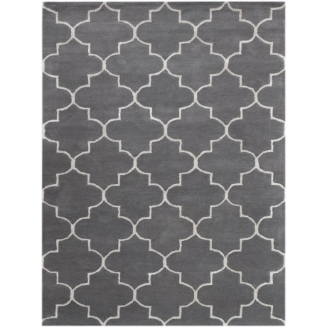 Amer Horizon Collection Gray Area Rug - 5x8', Wool Blend