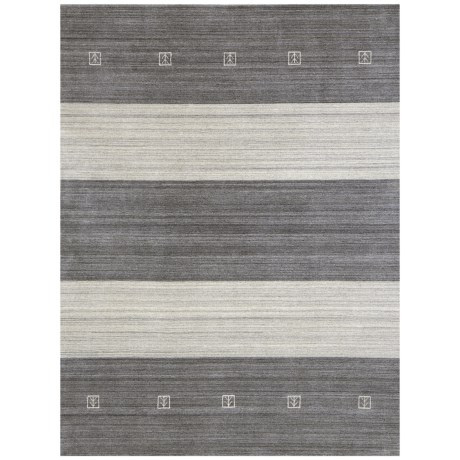 Amer Blend Collection Charcoal Area Rug - 4x6', Viscose-Wool Blend