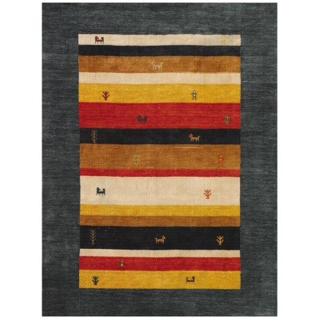 Amer Nomadic Collection Dark Green Area Rug - 8x10', Wool-Cotton