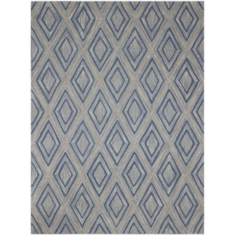 Amer Dwell Collection Gray Scatter Accent Rug - 2x3', Wool Blend