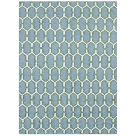 Amer Zara Collection Sky Blue Area Rug - 5x8'