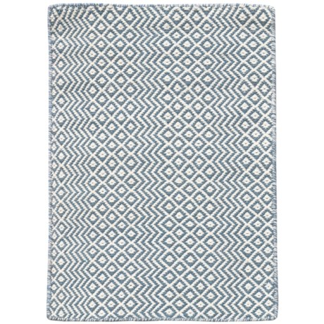 Amer Bella Collection Blue Area Rug - 5x8', Wool Blend