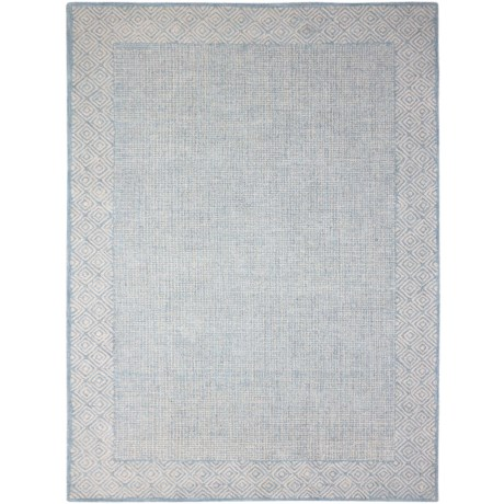 Amer Calvin Collection Aqua Area Rug - 5x8', Wool-Cotton