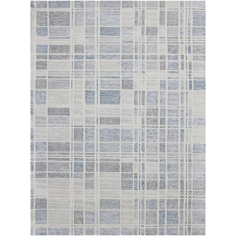 Amer Vector Collection Pewter Area Rug - 5x8', Wool Blend