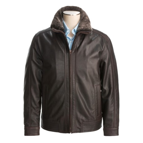 Weatherproof Buffalo Retro Contemporary Open-Bottom Jacket - Detachable Shearling Collar (For Men)
