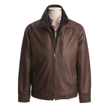 Weatherproof Egyptian Lambskin Coat - Double Collar (For Men)