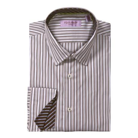 Equilibrio Satin Stripe Sport Shirt - Testa®, Long Sleeve (For Men)
