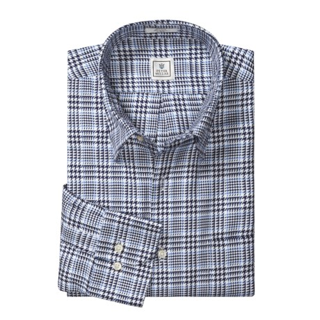 Peter Millar Houndstooth Plaid Shirt - Long Sleeve (For Men)