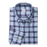 Peter Millar Cotton Plaid Shirt - Heavy Pane, Long Sleeve (For Men)