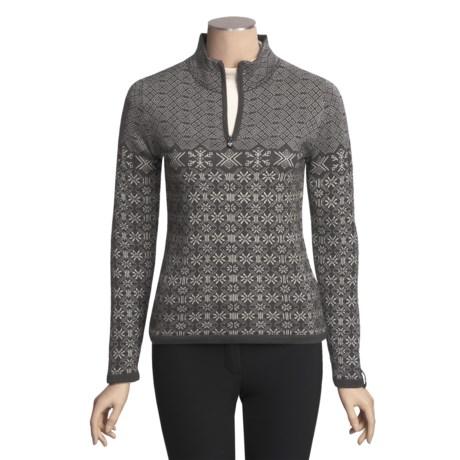 Meister Grace Sweater - Wool, Zip Neck (For Women)