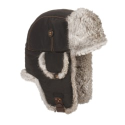 Mad Bomber® Supplex® Nylon Aviator Hat - Rabbit Fur, Insulated (For Men and Women)