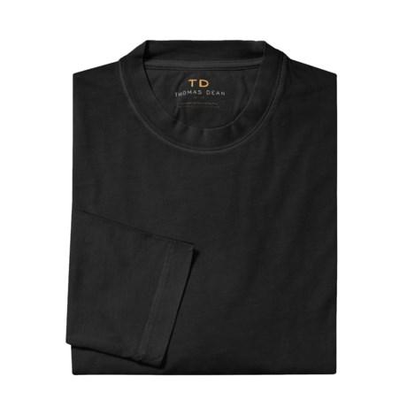 Thomas Dean Classic Pima Cotton Shirt - Long Sleeve (For Men)