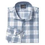Thomas Dean Cotton Plaid Sport Shirt - Long Sleeve (For Men)