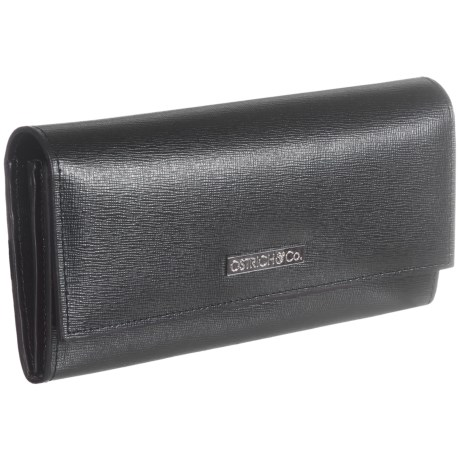 Ostrich & Co. Saffiano Leather Wallet (For Women)