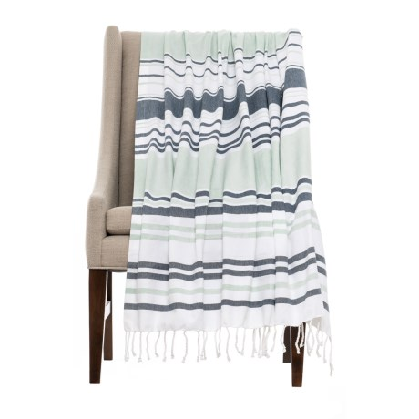 Coyuchi Sutro Stripe Coverlet Throw Blanket - Organic Cotton
