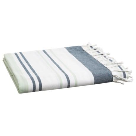 Coyuchi Sutro Stripe Coverlet - King, Organic Cotton