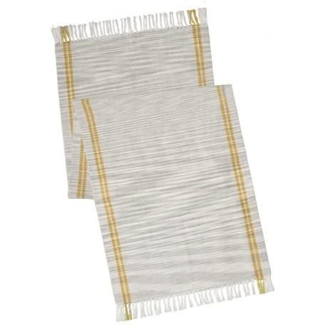 "Coyuchi Drifting Stripe Table Runner - 18x60"", Organic Cotton"