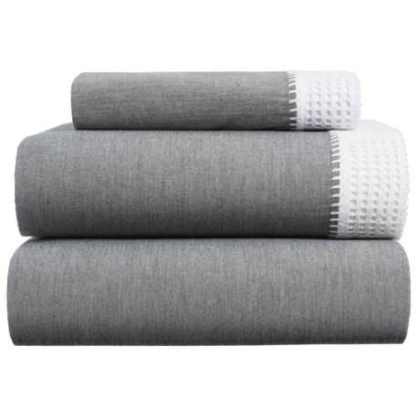 Coyuchi Crochet Trimmed Sheet Set - Twin