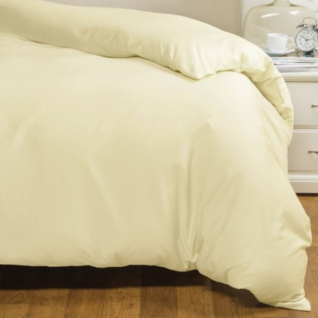 Coyuchi Percale Duvet Cover - Twin, 220 TC, Organic Cotton