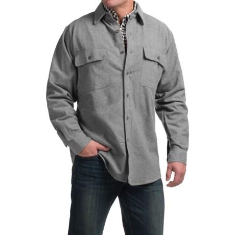 Moose Creek Heather Chamois Shirt - Long Sleeve (For Tall Men)