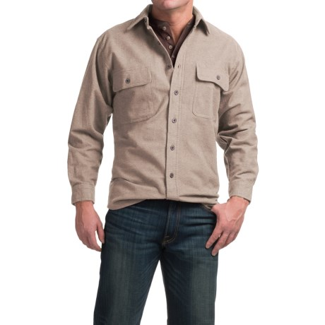 Moose Creek Heather Chamois Shirt - 9 oz., Long Sleeve (For Men)