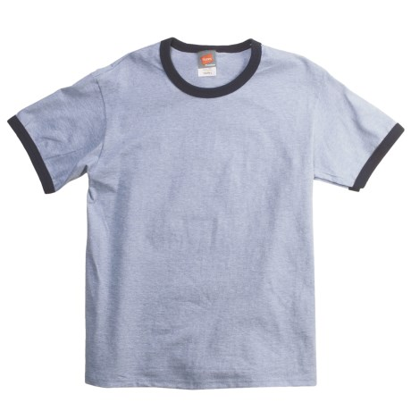 Hanes Cotton Ringer T-Shirt - Short Sleeve (For Youth)