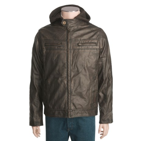 Columbia Sportswear Faux-Leather Jacket - Zip-Out Bib and Hood (For Men)