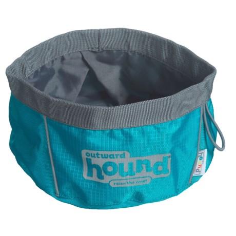 Outward Hound Large Port-A-Bowl Collapsible Dog Bowl - 48 oz.