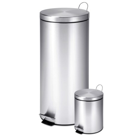 Honey Can Do Stainless Steel Step Trash Cans - Set of 2