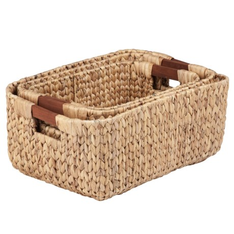 Honey Can Do Woven Nesting Baskets - Set of 3