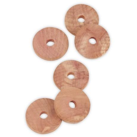 Honey Can Do Hanger Rings - 6-Pack, Cedar
