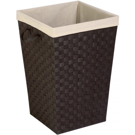 """Honey Can Do Woven Fabric Hamper - 17x26"""", Lined"""