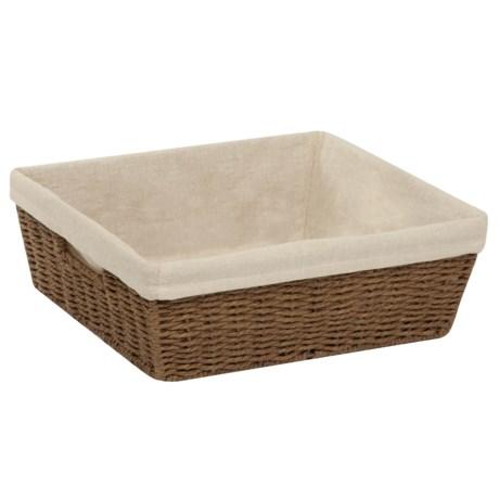 "Honey Can Do Parchment Cord Storage Basket - Linen Liner, 13x15x5"""