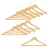 Honey Can Do Wood Hangers - 10-Pack