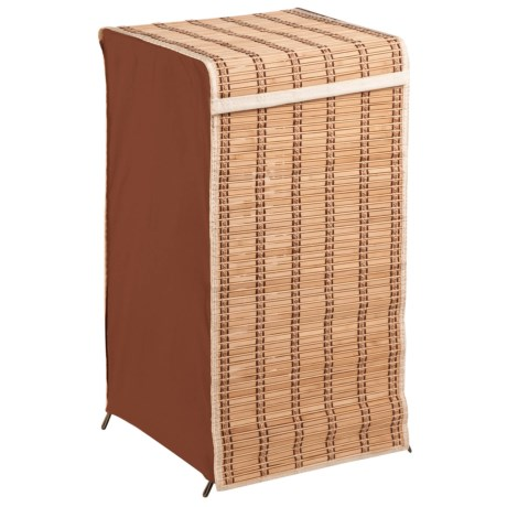 Honey Can Do Tall Bamboo Square Hamper