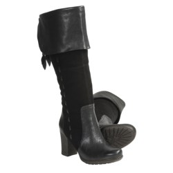 Naya Narubi Tall Boots - Suede-Leather, Side Zip (For Women)