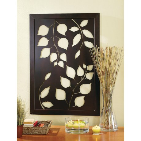 Tag Autumn Leaves Wall Plaque - 40x28""