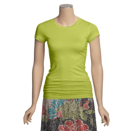 Stephanie B Pima Cotton T-Shirt - Short Sleeve (For Women)