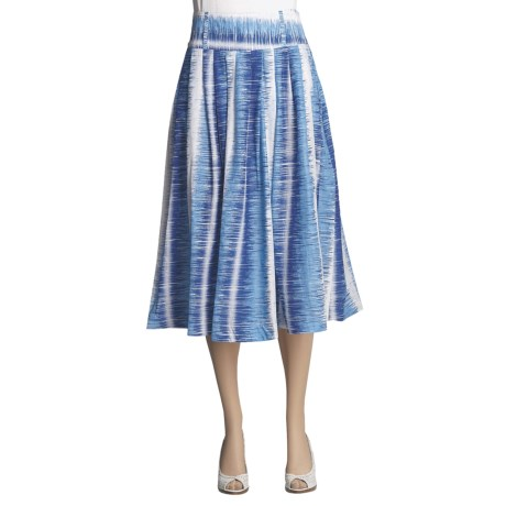 Sharagano Pleated Cotton Skirt (For Women)