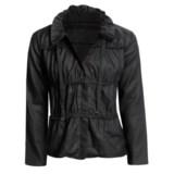 Zoe D Washed Linen Jacket - Hidden Zip (For Women)