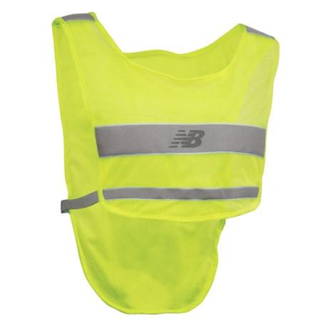 new balance reflective running vest for men and women 3628h save 33. Black Bedroom Furniture Sets. Home Design Ideas