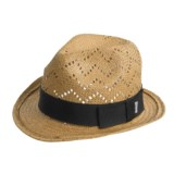 Cov-ver Cov-Ver Toyo Fedora Hat - Vented Crown, Grosgrain Ribbon Band (For Men and Women)