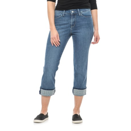 NYDJ Dayla Embroidered Wide Cuff Capris (For Women)