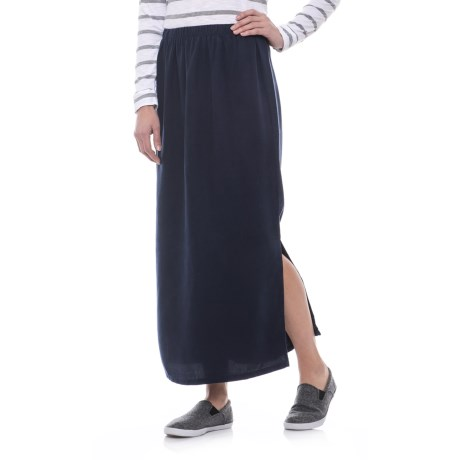 Russ Berens Side-Slit Skirt - TENCEL® (For Women)