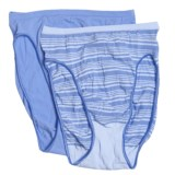 Hanes Perfect Stretch Opaque Underwear - Hi Cut, 2-Pack (For Women)