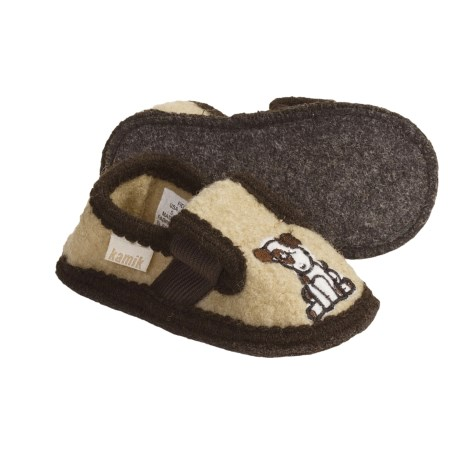 Kamik Fido Slippers - Recycled Boiled Wool (For Toddlers)