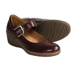 ECCO Shiver Leather Wedge Shoes - Mary Janes (For Women)