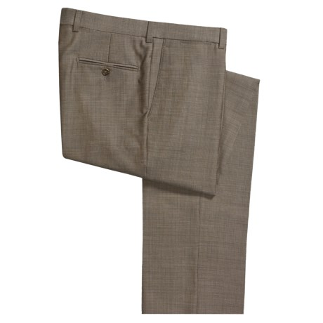Riviera Wool Structured Neat Dress Pants (For Men)