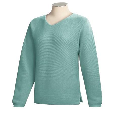 ALPS V-Neck Pullover Sweater (For Women)