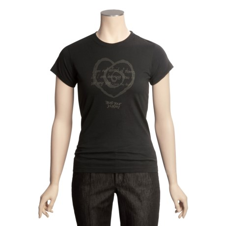 Trust Your Journey Louisa's Journey T-Shirt - Organic Cotton, Short Sleeve (For Women)
